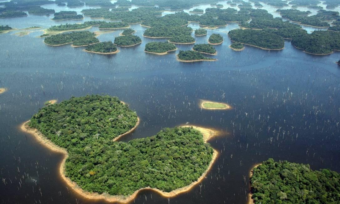 Usina tem 3.546 ilhas, muitas com área inferior à necessária para a sobrevivência de animais de grande porte Foto: Eduardo M. Venticinque /