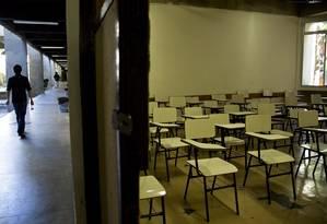 No 9º ano, o percentual de alunos com aprendizado adequado em 2013 foi 16,4% em matemática Foto: Paula Giolito / Agência O Globo