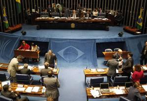Senado aprova projeto que estende aposentadoria compulsória aos 75 anos a todos servidores públicos Foto: Givaldo Barbosa / Agência O Globo