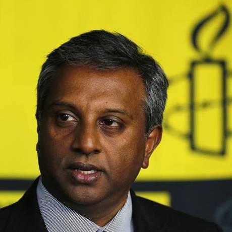 Salil Shetty, secretário-geral da Anistia Foto: Tomas Bravo / Reuters
