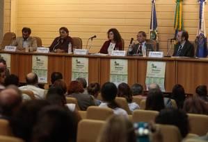No Tribunal de Justiça. Representantes do governo e cientistas em debate sobre drogas Foto: Pedro Kirilos