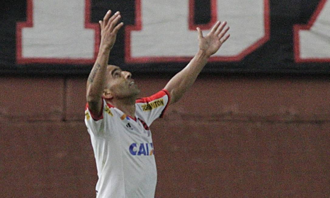 Emerson comemora o primeiro gol desde sua volta ao Flamengo Divulgação / Flamengo