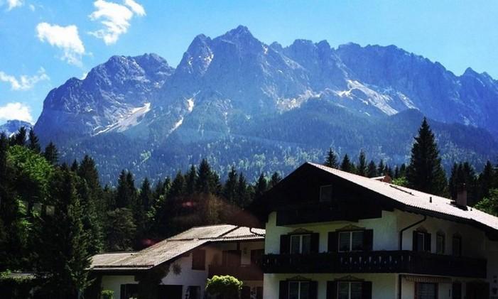 Garmisch-Partenkirchen, na Alemanha Foto: @reolive / Instagram