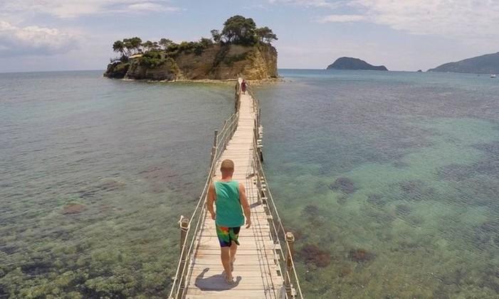 Cameo Island, na Grécia Foto: @thiago.lopez / Instagram