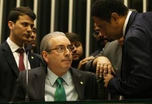O presidente da Câmara, Eduardo Cunha, colocou em votação a redução da maioridade penal um dia após matéria ter sido rejeitada Foto: Ailton de Freitas / Agência O Globo