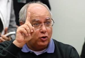 """O ex-diretor de Serviços da Petrobras Renato Duque durante """"depoimento"""" à Comissão Parlamentar de Inquérito (CPI) da Petrobras Foto: Ailton de Freitas / Agência O Globo"""