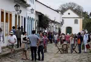 Centro histórico de Paraty movimentando pela Flip Foto: Gustavo Stephan / Agência O Globo