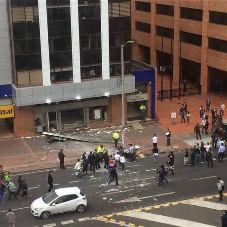 Primeira explosão deixou cinco feridos Foto: Reprodução / El Tiempo/GDA