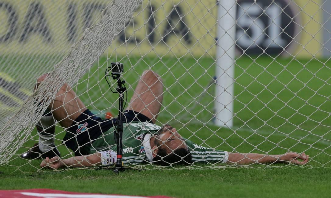 No segundo tempo, Fred perdeu chance embaixo da trave Marcelo Theobald / Agência O Globo