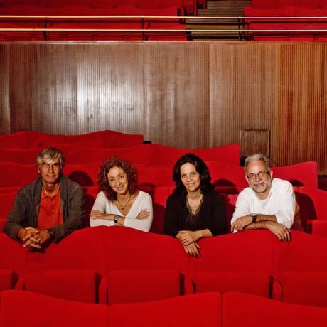 Os criadores e organizadores do Anima Mundi — Marcos, Lea, Aída e Cesar, que acontece, agora, na Cidade das Artes Foto: Freelancer / Bia Guedes