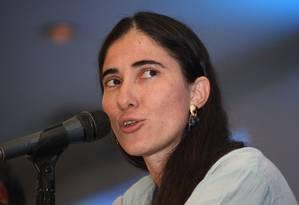 A blogueira e dissidente cubana, Yoani Sanchez, fala de frustração em transformação lenta Foto: Jose Castañares / AFP