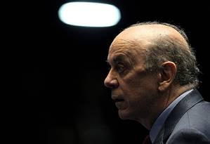 O tucano José Serra atrai o PMDB, que busca nome para 2018 Foto: Jorge William / O Globo/30-6-2015