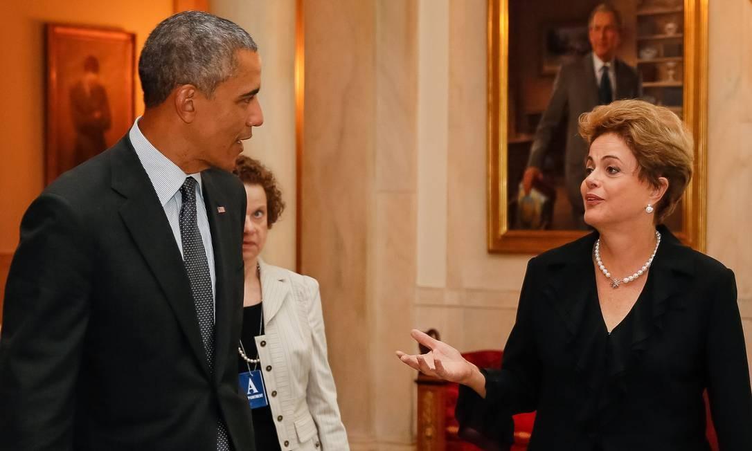 A presidente Dilma Rousseff durante Jantar oferecido pelo presidente dos Estados Unidos, Barack Obama, na última segunda-feira Foto: Roberto Stuckert Filho/PR