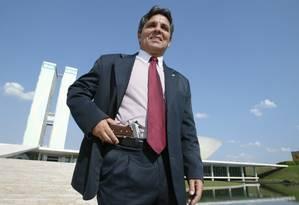 Alberto Fraga, em 2003, no Congresso: há mais de uma década, deputado propõe aumentar penas Foto: Roberto Stuckert Filho/11-9-2003 / Arquivo