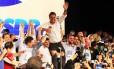 O senador Aécio Neves (PSDB-MG) na convenção