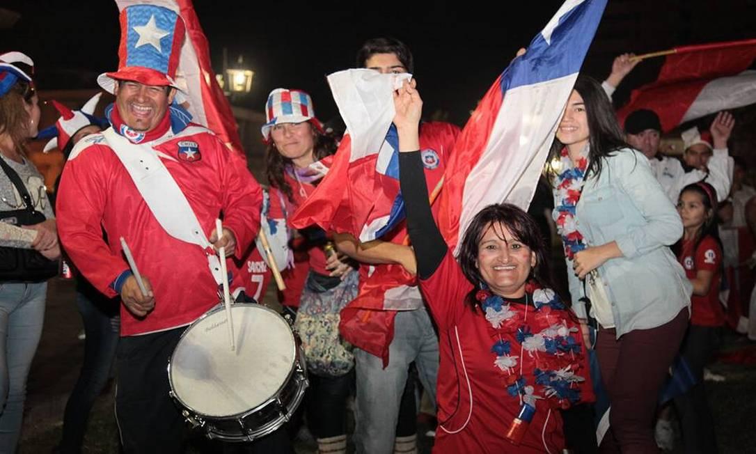 No carnaval chileno em Iquique, o orgulho nacional com a conquista inédita da Copa América Juarez Becoza / Agência O Globo
