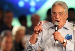 O ex-presidente da República Fernando Henrique Foto: Jorge William / Agência O Globo