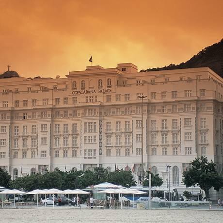 A fachada do Copacabana Palace: imponência na orla Foto: Divulgação