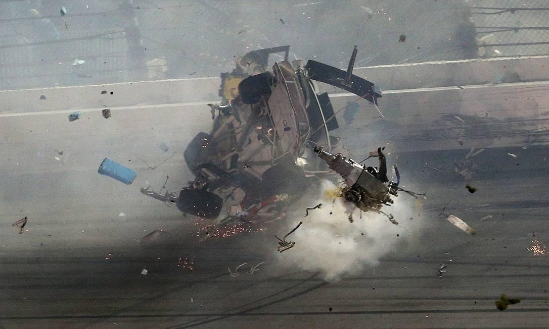 Após a prova, o piloto defendeu mudanças na categoria para que a Nascar seja mais segura Patrick Smith / AFP