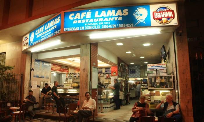 Café Lamas, um dos points para saborear sopas no inverno do Rio Foto: Berg Silva / Agência O Globo
