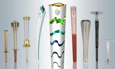 As tochas olímpicas Foto: O Globo