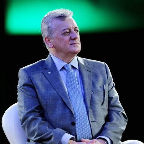 Aldemir Bendine, presidente da Petrobras, participa do encontro do Ethanol Summit no WTC, em São Paulo Foto: Michel Filho / Agência O Globo