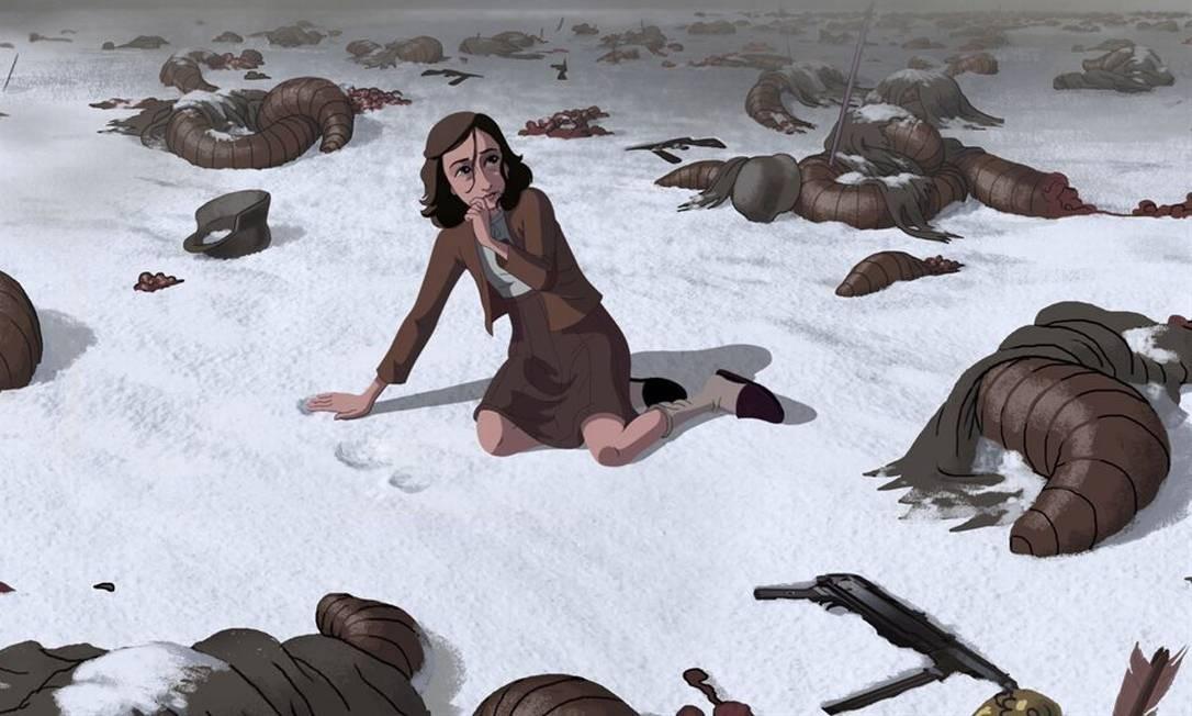 """Uma das imagens divulgadas da animação inspirada no livro """"O diário de Anne Frank"""", sem previsão de estreia por enquanto Foto: Divulgação"""