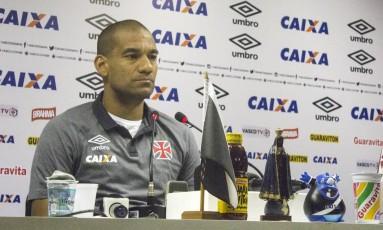 Rodrigo dá entrevista coletiva em São Januário Foto: Paulo Fernandes / Divulgação Vasco