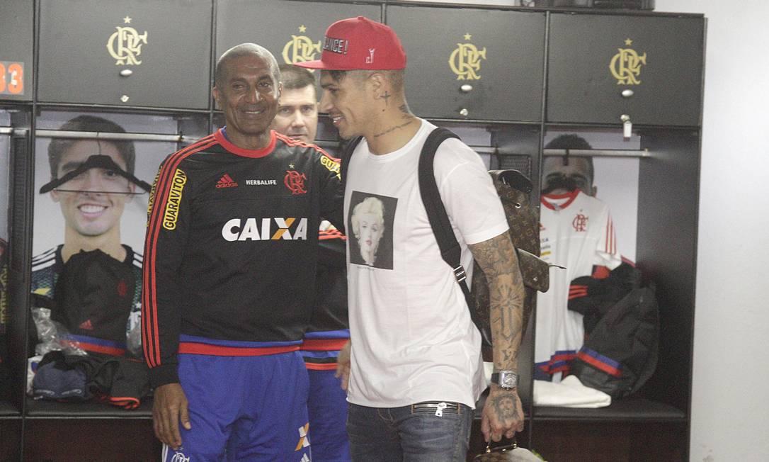 Na sequência, Guerrero foi ao vestiário, onde conversou com o técnico Cristóvão Borges Gilvan de Souza/Flamengo