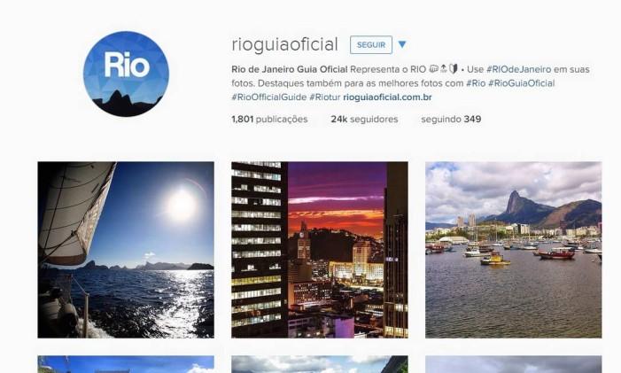 Página do Instagram do Rio Guia Oficial Foto: Reprodução