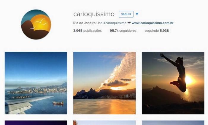 Perfil do Instagram do Guia Carioquíssimo Foto: Reprodução