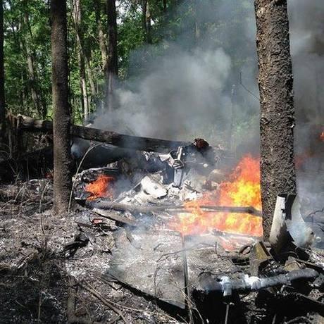 Impacto deixou aeronaves completamente destroçadas Foto: Reprodução
