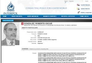 Roberto Oscar González, acusado de assassinar o jornalista e escritor Rodolfo Walsh, em março de 1977 Foto: Reprodução
