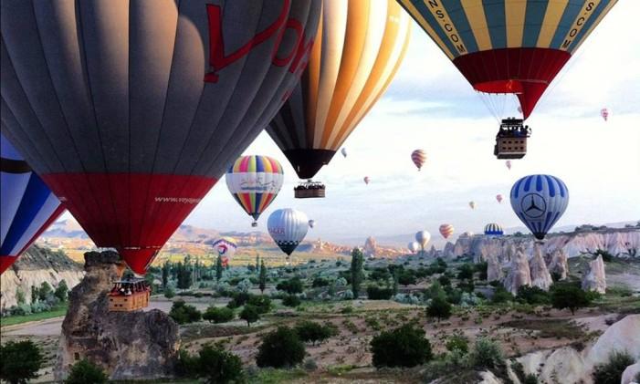 Passeio de balão na Capadócia é um dos melhores programas para o verão Foto: Divulgação