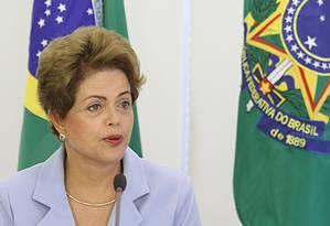 A presidente Dilma Rousseff Foto: Jorge William