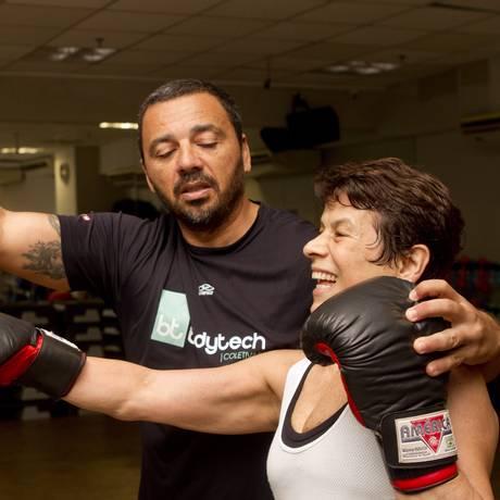 Aluna aplicada, Ruth Maia pratica box, entre outras atividades, e vai à academia todos os dias Foto: Bia Guedes / Agência O Globo