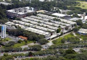 Vista aérea do campus da USP no Butantã: universidade caiu dois pontos no ranking dos BRICs Foto: Divulgação