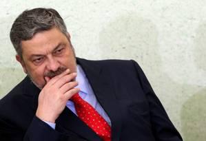 Ex-ministro da Casa Civil Antonio Palocci Foto: Gustavo Miranda / Agência O Globo