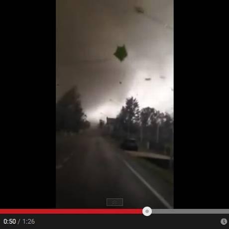 Tornado em Mira, Veneza Foto: Reprodução do YouTube