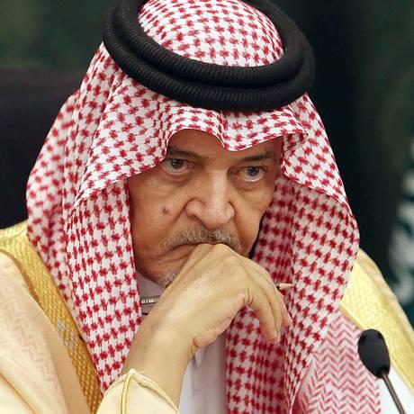 Saud al-Faisal em 2014: chanceler encarava problemas de saúde Foto: - / AFP