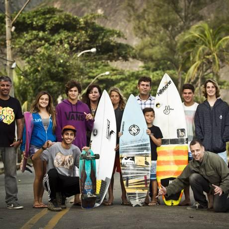 Atletas, organizadores e familiares: Niterói como polo de surfe no estado Foto: Guilherme Leporace