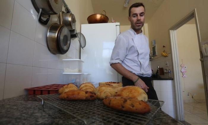 Croissants franceses do confeiteiro Jeff Mauget Foto: Custódio Coimbra / Agência O Globo