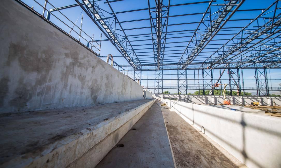Arquibancada permanente na Arena da Juventude, que receberá basquete e esgrima nas Olimpíadas Renato Sette Camara / Divulgação/Prefeitura do Rio