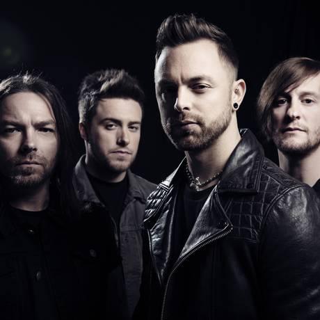 Matt Tuck (à frente): 'Sempre fomos uma banda de metal com objetivos diferentes dos das outras bandas' Foto: Divulgação / Divulgação