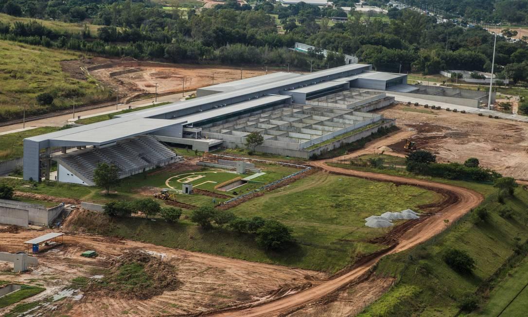 Centro de Tiro Esportivo, construído para o Pan de 2007, segue em reformas para as Olimpíadas Renato Sette Camara / Divulgação/Prefeitura do Rio