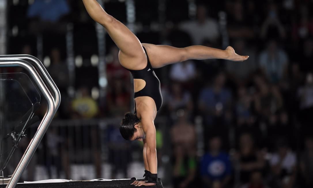 Ingrid de Oliveira ficou em sétimo na semifinal, com nota 266,80 TIMOTHY A. CLARY / AFP
