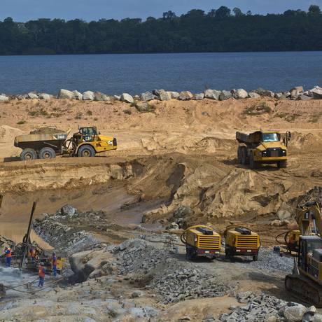 Obras de Belo Monte Foto: Dado Galdieri / Bloomberg/20-12-2014