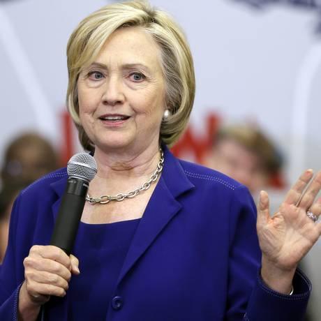 Candidata democrata durante discurso em Iowa Foto: Charlie Neibergall/AP