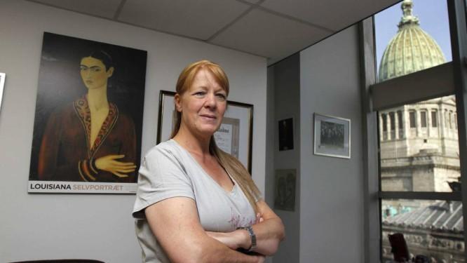 Convicta. Margarita Stolbizer, candidata à Presidência argentina, em seu escritório : ela diz que não pensa em desistir da candidatura para unir a oposição Foto: La Nación/GDA