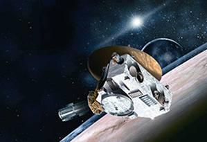 Sonda New Horizon se aproxima de Plutão Foto: Editoria de Arte